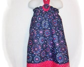 Red, White & Blue Firework Print Halter Dress 3T