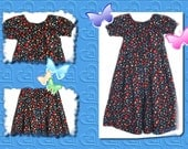 Floral Boutique Peasant Dress - Ready to Ship Size 8