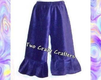 Deep Purple Smooth Minky Pants Size 4T Ready to Ship