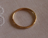 Set of 2 14 goldfilled 16ga stack/stacking/stackable rings/bands - wedding rings, made to order sizes 4.5,6,7,8,9,10