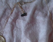 Semi-crocheted necklace