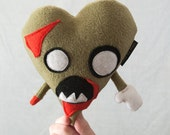 I Heart Zombies - Valentine's Day Plush Zombie Heart