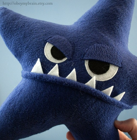 Starfish Fleece Plush - Dark Blue