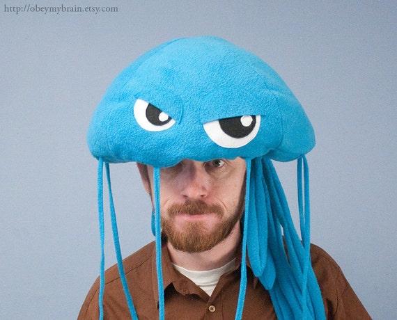 Fleece Jellyfish Hat - Turquoise
