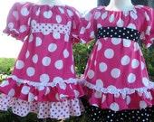 Custom Boutique Hot Pink Big Dot Minnie Disney Vacation Mouse Dress Girl 2 3 4 5 6