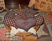 Americana Homespun Hearts and Stars Prim and Country Bowl Fillers