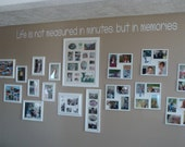 Life is not measured in minutes, but in memories Home Decor sticker for your wall