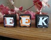 Eek Blocks Halloween Decorations