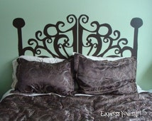 Unique Wall Decal Headboard Related Items Etsy