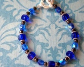 READY TO SHIP - Hematite Healing Bracelet in Blue - Bella Mia Beads