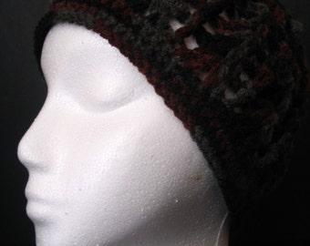 Crocheted Multi-Colored Cap