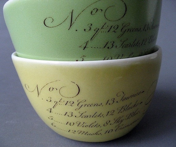 ice cream bowls, set of two