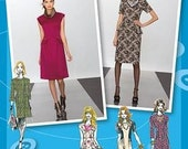 Project Runway Dress Pattern with Bib Necklace Simplicity 2282