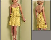 Vogue 1105 Anna Sui Flirty Ruffled Dress Pattern Sizes 4-10