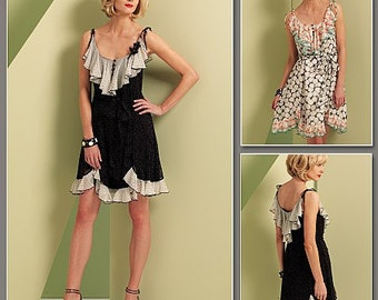 Vogue 1104 Anna Sui Dress Pattern Sizes 6-12