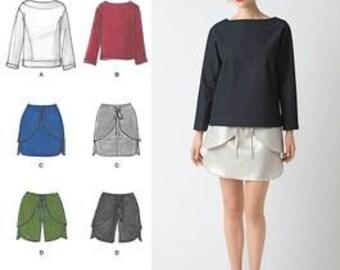 Simplicity 2192 Cynthia Rowley Top, Mini Skirt, and Shorts Pattern