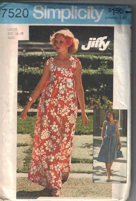 Retro1976 Long Or Short Mumu Dress Pattern