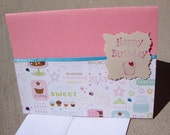 Sweet handmade Happy Birthday Cupcake Card.