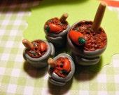 Pot of Chili Beads -- Set of 4