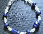 RESERVED for Shawnda Dichroic glass beaded bracelet- (V)