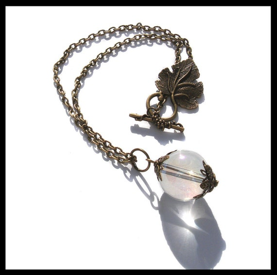 The Sigh of The Goblin King Necklace, Labyrinth Jareth Juggling Ball Round Orb Fantasy Jewelry David Bowie Film Movie Fan Art Dream Wish