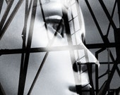 Black and White Photography Collage Geometric Female Mannequin Face BOUNDARIES