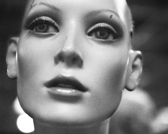 Black and White Mannequin Photography Art Female Face Print Secret Society No7