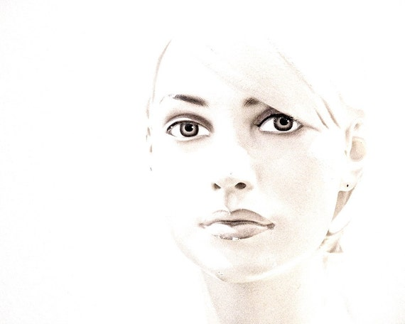Black and White Female Face Print Fine Art Photography Mannequin Portrait - The Look