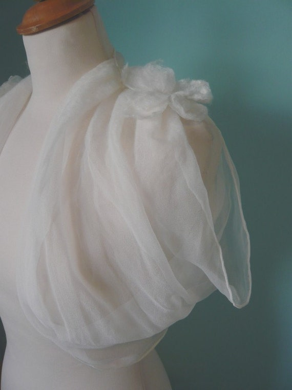 Bianca Nuno Felted Grecian Silk Shrug