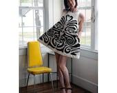 Maori Mini Dress Handsewn Applique EcoFashion