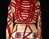Vanitas Art Dress Recycled Vintage Robe