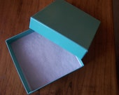 50 Pack Teal Color 3.5X3.5X2 Deep Cotton Filled Jewelry Retail Gift Boxes
