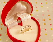One Pretty Flocked heart Shaped Ring Box Perfect for giving that special something to your Valentine