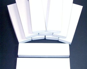 20 Pack White Color Cotton Filled 8X2X1 Inch Size Retail Jewelry Gift Presentation Boxes