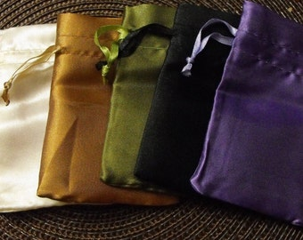12 Pack Satin Drawstring 2.75X3 Inch Multiple Color Bags Great for Party favors, Sachets, Gift Packaging and more