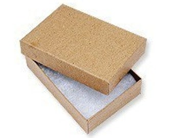 20 Pack Kraft 3.25X2.25X1 Inch Sized Cotton Filled Jewelry Presentation Boxes