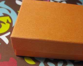 20 Pack  Mango Textured Cotton Filled Jewelry Gift Boxes 3.25 X 2.25 X 1 Inch Size