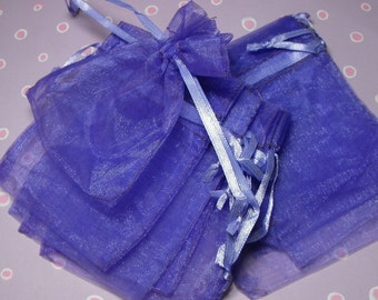 12 Pack Purple Sheer Organza Drawstring Bags  Great For Halloween Time Gifts