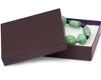 50 Pack 3.5 X 3.5 X 1 Inch Chocolate Brown Size Cotton Filled Jewelry Presentation Gift Boxes