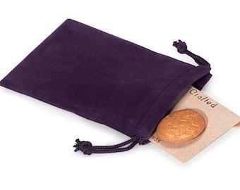 50 Pack Grape Vineyard Purple Velvet Drawstring Bags great for Weddings, Party favors, Jewelry, Etc