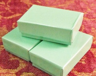 20 Pack Teal Cotton Filled Jewelry Presentation Boxes 1.85X1.25X5/8 Inch Size Itty Bitty Boxes