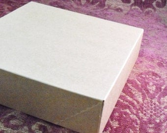 10 Pack Kraft Brown Paper Two Piece Style Packaging Retail Gift Boxes 10.5X10.5X2 Inch Size