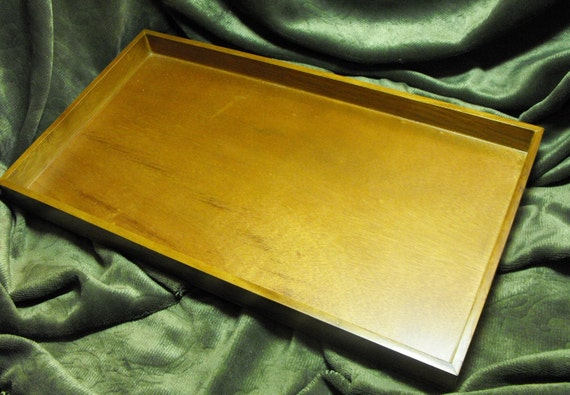 One Standard Size Oak Wood Jewelry and Retail Tray Display 14.75 X 8.25 X 1 Inch Size