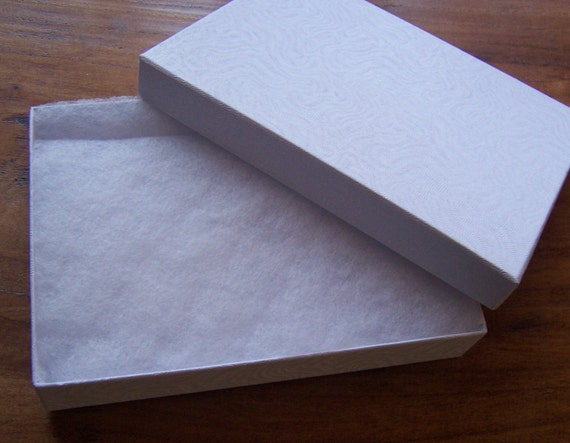 10 Pack Cotton Filled white Color Jewelry Gift and Retail Boxes 5 X 3 X 1 Inch Size