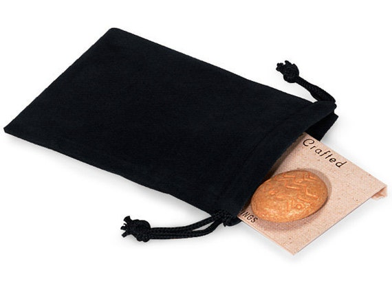 100 Pack Deep Black Velvet Drawstring Bags great for Weddings, Party favors, Jewelry, Etc