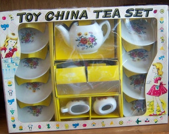 Vintage Made in Japan Toy China Tea Set