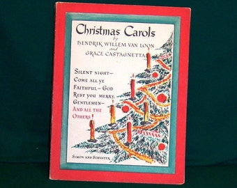 1937 Christmas Carols Music Book from Simon and Schuster