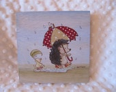 Picli the hedgehog - Rainy day