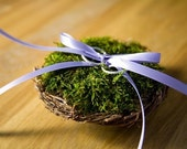 Custom Bird Nest Ring Bearer Pillow