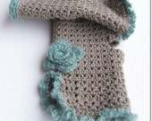 RESERVED FOR CHICHIMOM Victorian Times Inspired Crochet Mittens